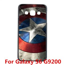 Wholesale S3 Captain America - Wholesale-Captain America Design Case Cover For Samsung Galaxy S3 S4 S4 Mini S5 S5 Mini S6 S6 Edge Note 2 Note 3 Note 4 5 Edge A3 A5 A7 A8