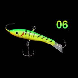 Wholesale Ice Jigs - 2018 New Design Ice Fishing Lure Jig Fishing Baits 7.7cm 21.7g Lifelike Fake Baits or Vibration Hard Lure