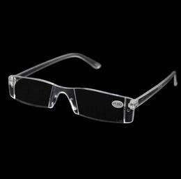 Wholesale Glasses Transparent For Men - Men Women Clear Reading Glasses,Transparent Plastic Rimless Presbyopia Pocket Reader, +RX Optic Glasses for Aging People 1.00-4.00 Diopter