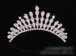 Wholesale Wear Trendy - Cheap Crystal Bridal Tiara 4 Layers In Stock Bridal Hair Pin Accessories Formal Event Performance Head Wear Wedding Hair Accessory