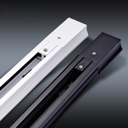 Trilho da linha de LED 1 Metro trilho de dois fios de luzes 'branco e preto linha de holofotes lâmpada deslizante com conector frete grátis de