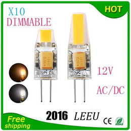 Wholesale Dc Light Bulb Leads - LED G4 Lamp Bulb AC DC 12V 110V 220V 6W 9W COB SMD LED Lighting Lights replace Halogen Spotlight Chandelier