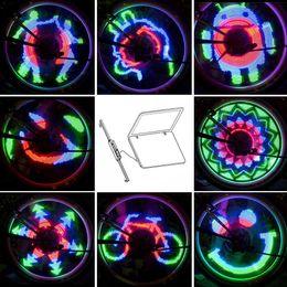 Wholesale Custom Rgb - 48 RGB LEDs 48 Modes Spoke Light Water Resistant Anti-shock Custom Programmable Bike Bicycle Wheel Light Color Changing Y0522