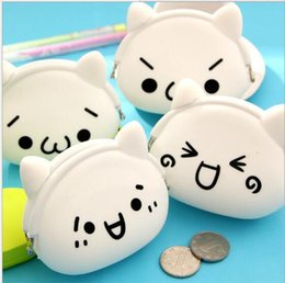 Wholesale Kids Zipper Ties Wholesale - 40PCS High Quality popular coin bag Silicen cartoon emoji Purses bag lovely mini Bag kids wallet Bags for ladys women girls Bag BFH475