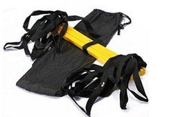 Wholesale Soccer Bag Wholesale - 50pcs Top Quality ladder 5M (16.5 feet) * 9 rungs long Soccer Training Speed Agility Ladder + Carry Bag Outdoor Fitness Equipment ladder