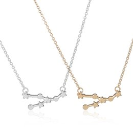 Wholesale Gold Zodiac Necklace - Min 1pc 2015 Gold and Silver PlatedTaurus Zodiac Sign Astrology Pendant Necklaces for Women XL156