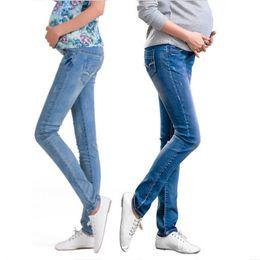 Wholesale Clothing For Pregnant Jeans - Elastic Waist Maternity Jeans Pants For Pregnancy Clothes For Pregnant Women Legging Autumn   Winter 2015 Maternity Plus Size