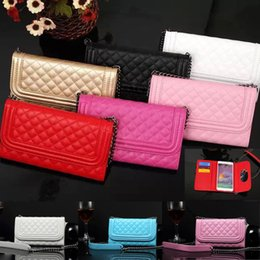 Wholesale Galaxy S4 Folding Case - for Samsung Galaxy Note4 wallet leather case for Lady's 3 fold mirror with card holder phone case for Samsung galaxy S3 S4 s5
