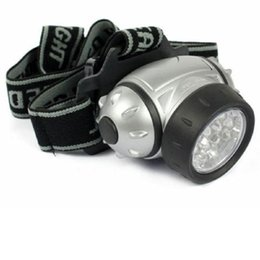 Wholesale Headlamps 12 Led - Free Shipping 12 LED Bright Headlight Torch Headlamp Head Lamp Light With Adjustable Strap Flashlight led head light