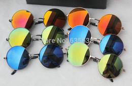 Wholesale hot johns - Wholesale-Hot Sale John Lennon Style Round Sunglasses Vintage 60s Retro Glasses Sunnies Shades