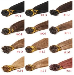 Wholesale Wholesaler Bonding Hair Pieces - Stick i tip human hair extensions straight no shedding indian remy keratin human hair DHL free shipping