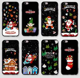 2019 weihnachten handy fällen Für iphone6s 6 plus iphone7 7 Plus Weihnachtsmann Weihnachtsbäume handy schutzhülle abdeckung Iphone schutzhülle günstig weihnachten handy fällen