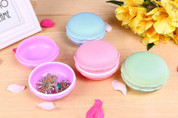 Wholesale Pill Candy - Free Shipping Creative Cute Candy Color Macaron Mini Storage Box Jewelry Box Pill Case wholesale(1000pcs lot