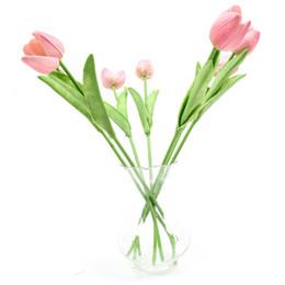 10 pz Real Touch PU Mini Tulip Artificiale Fiori Decorazioni Per La Casa Decorazioni di Nozze Fiore di Cerimonia Nuziale spedizione gratuita (senza vaso) colorato supplier silk tulip wedding flowers da fiori di nozze di tulipani di seta fornitori