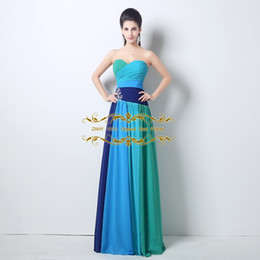 Wholesale Delicate Lace Evening Dress - 2015 Real Photos Prom Dresses In Stock A Line Sweetheart Delicate Crystal beaded Chiffon Full length Evening Gowns green prom dress DH002