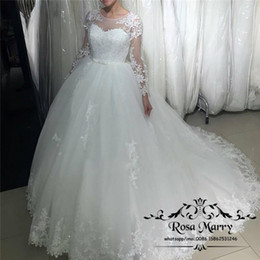 Wholesale Victorian Plus - Princess Vintage Lace Ball Gown Wedding Dresses 2017 Plus Size Puffy Tulle Arabic Victorian Dubai Country Vestido De Novia Bridal Gowns