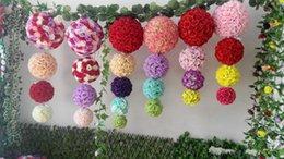 Wholesale Fairy Display - Free shipping 12 Inch Wedding silk Pomander Kissing Ball flower ball decorate flower artificial flower for wedding garden market decoration