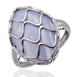 Wholesale Solid Agate Band Ring - Wholesale-Marquise Cut Agate Solid 925 Sterling Silver Wave Ring Women's Jewelry Love Gift