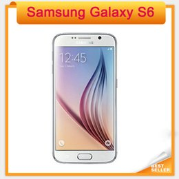 Wholesale White Mobile - Original Samsung Galaxy S6 G920A G920F G920P LTE Mobile Phone Octa Core 3GB RAM 32GB ROM 16MP 5.1 inch Android 5.0