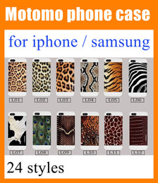 Wholesale Animal Cases For Iphone 4s - For iphone 6 6 plus 5 5s 4 4s samsung s4 i9500 Shockproof peacock animal skin   cow   zebra   giraffe   leopard print cell phone case SCA006