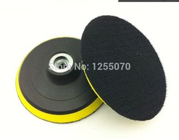 Wholesale Fiberglass Adhesives - 2pcs polishing disk polishing discs with sticky adhesive sandpaper disc chuck 100mm angle grinder accessories M10 order<$18no track
