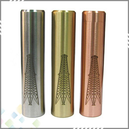 Wholesale Newest Ecig Batteries - Newest Rig Mod Machanical Mods Ecig E Cigarettes Copper SS Brass 18650 Battery Body fit 510 RDA Atomzier Full Mecanical Mod DHL Free