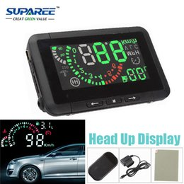 Wholesale Fuel Vehicles - Wholesale-Free Shipping Multi Car HUD Vehicle-mounted Head Up Display System Fuel Consumption Overspeed Warning Diagnostic Tool