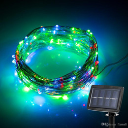Wholesale Led Landscape Trees - 150 LED 72ft Solar Powered LED Fairy String Light Waterproof Starry Copper Wire Light Outdoor Landscape Garden Christmas Party Wedding Light