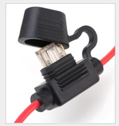 Wholesale wholesale fuse holder - Waterproof Power 12v Socket 16AWG 30cm Small middle Blade Type ring Fuse Holders