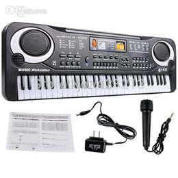 Wholesale Electronic Piano Toy Microphone - Wholesale-New Arrive 61 Key Multifunction Electronic Music Keyboard Electric Piano With Microphone Gift Free Shipping&Wholesales Funny Toys