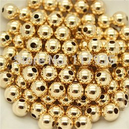 Wholesale Loose Fill Wholesale - Wholesale-Wholesale 20beads lot quality pure copper rolled 14k gold filled 2-10mm spacer round Loose beads jewelry making no fading