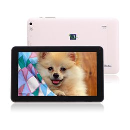 "Wholesale Dual Camera Tablets - 9"" Inch Android 4.4 ALLwinner A33 Tablet PC Quad Core Dual Camera Tablets 512MB 8GB Capacitive Screen 1.3GHZ WIFI"