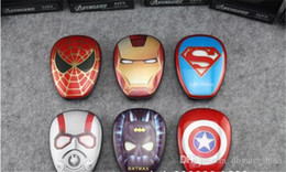 Wholesale Superman Cartoon Usb - New Arrival Cartoon external Battery emergency Iron Man 12000mAh USB Power Bank Charger Power Bank Marvel Heroes Captain America Superman
