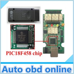 Wholesale Op Com Cable - Wholesale-with PIC18F458 chip!!!FreeShipping 2015 Opcom V1.59 with software V120309A opel Op com OBD2 Op-com with USB cable for opel opcom