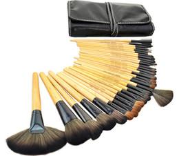 Cosméticos roll up caso on-line-32 pcs pincéis de maquiagem profissional compõem Kit escova de dentes cosméticos Kit + Roll Up Case