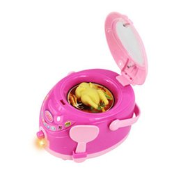 Wholesale Mini Electric Cooker - Wholesale-New rice cooker Simulation Pretend Play Mini Electric Appliance rice cooker Toys Educational Family Household toy rice cooker