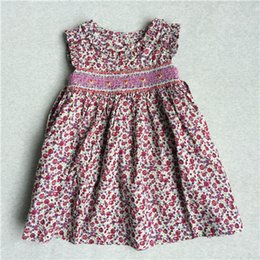 Wholesale New Age Clothing - Hot Dresses The Little Baby Girl Dresses Print Flowers Printed Sundress Party Dresse New Model Brand Clothes Age 9M-36M 2017 New Design