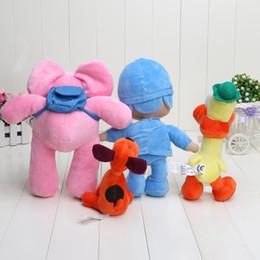 Wholesale Pocoyo Toys - Wholesale-Cheap Hot 4pcs lot 14-30cm Pocoyo Loula Elly Pato Stuffed Animals Plush Toys