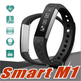 Wholesale Anti Band - M1 Smart Wristband Smart Band Bracelet Health Fitness Tracker Heart Rate Watches Pedometer Anti-lost PK Fitbits Mi Band