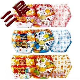 Wholesale Cotton Training Pants For Boys - 9pcs lot New Baby Training Pants 3 layers Infant Underwears Cloth Diapers Nappies for Baby Boys Girl #002