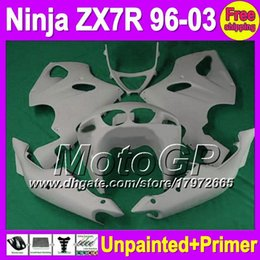 Wholesale 1997 Zx7r Fairings - 7gifts Unpainted+Primer Fairing For KAWASAKI NINJA ZX-7R 96-03 ZX7R ZX 7R 1996 1997 1998 1999 2000 2001 2002 2003 Fairings Bodywork Body