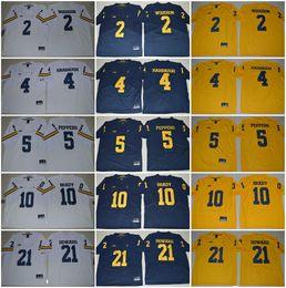 Wholesale Tom Brady Football Jerseys - Michigan Wolverines College Jerseys 4 Jim Harbaugh 5 Jabrill Peppers 21 Desmond Howard 2 Charles Woodson 10 Tom Brady Cheap Ncaa Jersey