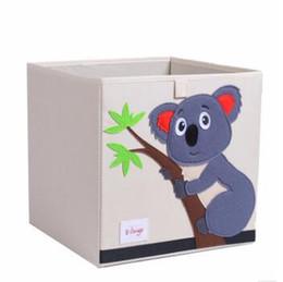 Deutschland HEIßER 3D Stickerei Cartoon Tier Falten Aufbewahrungsbox Große Wäschekorb Kleinigkeiten Kinder Kleidung Spielzeug Buch Speicherorganisator Versorgung