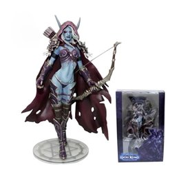 Wholesale Anime Figure Pvc Figma - Game Lich King Sylvanas Windrunner Figma Anime Darkness Ranger Lady PVC Action Figure Toy Brinquedos Kids Birthday Toys 6""