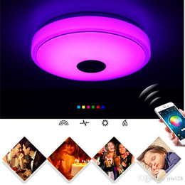 Wholesale Smart Ceiling Lighting - Bluetooth Smart Music Ceiling Phone Cell Phone APP Control Lighting Colorful Disco Creative Lamp Living Room Bedroom Light