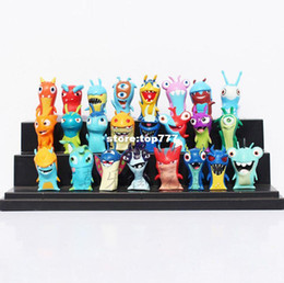 Wholesale Children Mini Set - 24pcs set Anime Cartoon 4.5-5cm Mini Slugterra PVC Action Figures Toys Dolls Child Toys