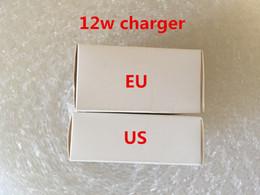 apple iphone baterías de teléfono celular Rebajas 50Pcs AAAA calidad 5V / 2.4A Adaptador de corriente EE. UU. UE Reino Unido enchufe Carga rápida 12 W cargador Adaptador USB Para iPad iPhone, con caja al por menor