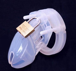 Wholesale Sex Toys Penis Locks - Silicone Male chastity belt penis lock anti masturbation chastity device sex toys