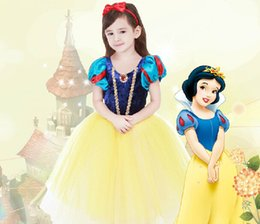 Wholesale Cinderella Party Cheap - Cheap Fall And Winter Children's Clothing Girls Dress Flower Girl Cinderella Costume Girl's Pageant Dress With Skirt Kids Formal Wear Party