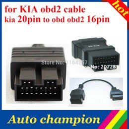 Wholesale King Cables - Wholesale-Super king to transmit data Fast stable,durable,very low prices for KIA obd2 cable,for kia 20 pin adaptor,to obd obd2 16pin